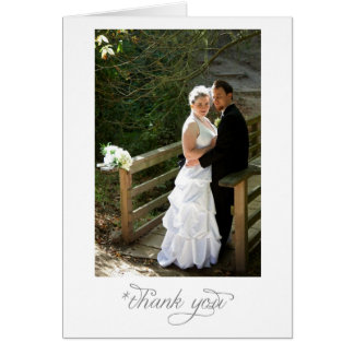 Wedding Portrait Thank You note Card