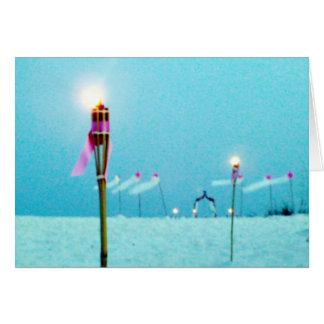 Wedding Postage Beach Scene Greeting Card