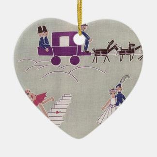 Wedding Present Heart Ceramic Heart Decoration