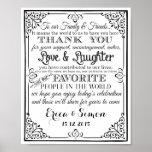 "Wedding print ""Thank You"" vintage chalkboard"
