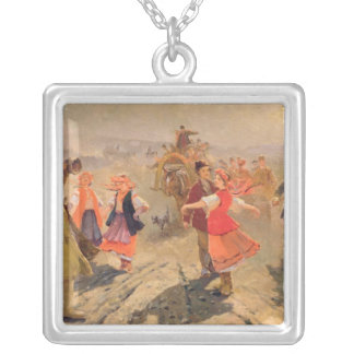 Wedding procession in the Orel region Silver Plated Necklace