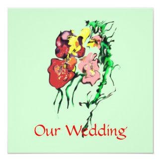WEDDING PRODUCTS 13 CM X 13 CM SQUARE INVITATION CARD