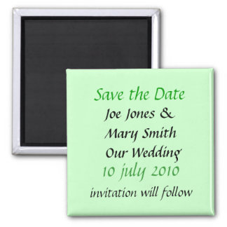 WEDDING PRODUCTS SQUARE MAGNET