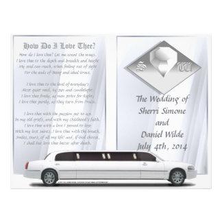 Wedding Program Bi-fold Design Personalized Flyer