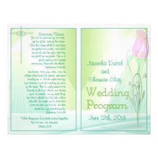 Wedding Program Bifold Design Flyer Design