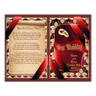 Wedding Program Bifold Design Personalized Flyer