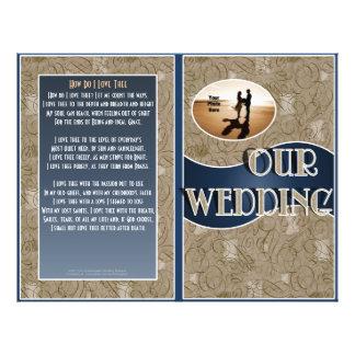 Wedding Program Bifold Design with Photo Flyers