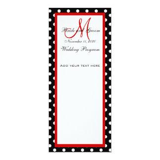 Wedding Program Black White Polka Dots Custom Announcements