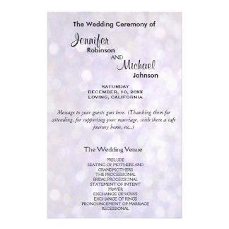 Wedding Program | Elegant Bokeh Lights 14 Cm X 21.5 Cm Flyer