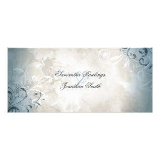 Wedding Program - Elegant Vintage Foliage & Swirls Rack Card Template