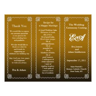 Wedding Program Folder Brown 21.5 Cm X 28 Cm Flyer