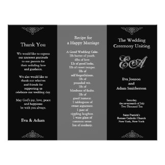 Wedding Program Folder Classic Dark Grey 21.5 Cm X 28 Cm Flyer