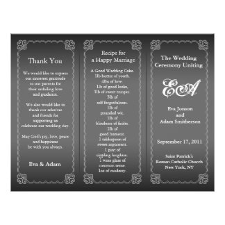 Wedding Program Folder Classic Silver Gray 21.5 Cm X 28 Cm Flyer