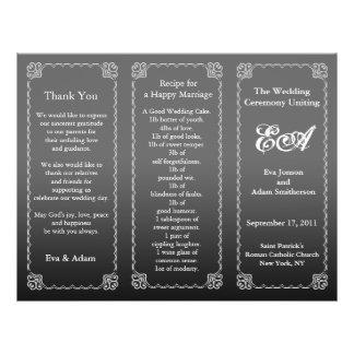 Wedding Program Folder Dark Gray Flyers