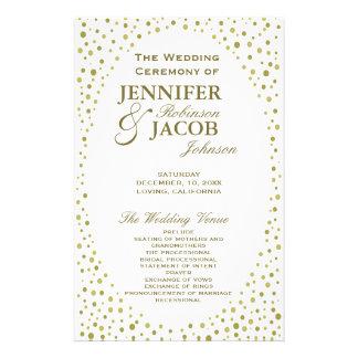 Wedding Program | Gold Confetti Flyer