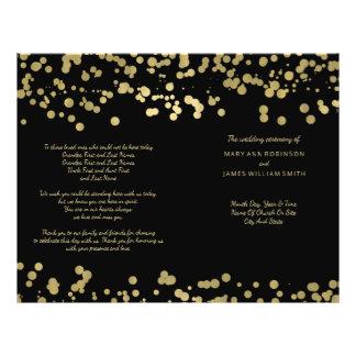 Wedding Program Gold Foil Confetti 21.5 Cm X 28 Cm Flyer