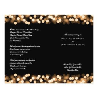 Wedding Program Gold Hollywood Glam 21.5 Cm X 28 Cm Flyer