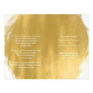 Wedding Program Gold Paint Look 21.5 Cm X 28 Cm Flyer