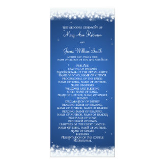 Wedding Program  Magic Sparkle Blue