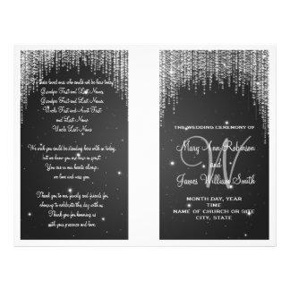 Wedding Program Night Dazzle Black 21.5 Cm X 28 Cm Flyer