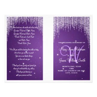 Wedding Program Night Dazzle Purple 21.5 Cm X 28 Cm Flyer