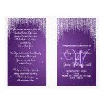 Wedding Program Night Dazzle Purple Flyer