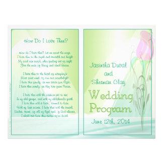 Wedding Program non-religious version Flyer Design