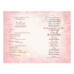 Wedding program pink white whimsical 21.5 cm x 28 cm flyer