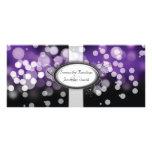 Wedding Program - Purple & Silver Bright Lights Full Colour Rack Card