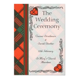 Wedding program - Scott Tartan 13 Cm X 18 Cm Invitation Card