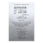 Wedding Program | Soft Silver Glitter Look 14 Cm X 21.5 Cm Flyer