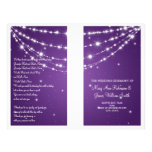 Wedding Program Sparkling Chain Purple Personalized Flyer