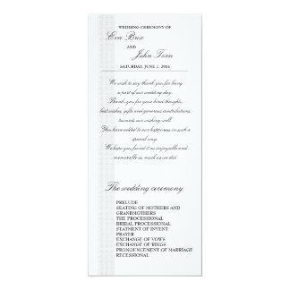Wedding program template 10 cm x 24 cm invitation card
