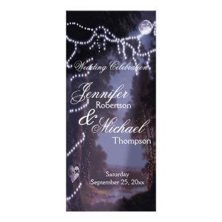 Wedding Program | Tree  Lights Rack Card
