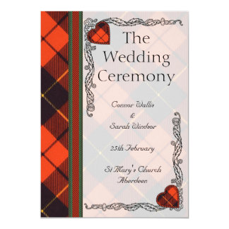 Wedding program - Wallis Scottish Tartan 13 Cm X 18 Cm Invitation Card