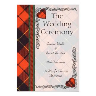 Wedding program - Wallis Scottish Tartan 13 Cm X 18 Cm Invitation Card