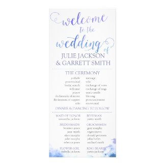 Wedding Program - Watercolor US Wedding Program 10 Cm X 23 Cm Rack Card