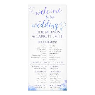 Wedding Program - Watercolor World Wedding Program Rack Card