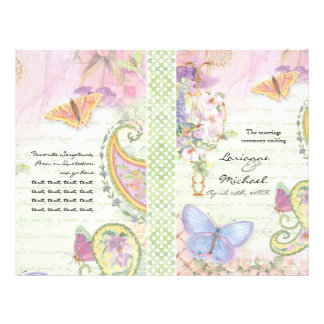 Wedding Program - Wings of Love Collection 21.5 Cm X 28 Cm Flyer