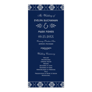 Wedding Programs | Art Deco Style 10 Cm X 24 Cm Invitation Card