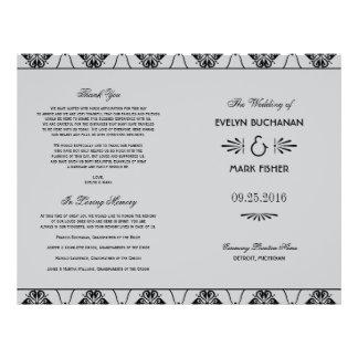 Wedding Programs | Art Deco Style 21.5 Cm X 28 Cm Flyer