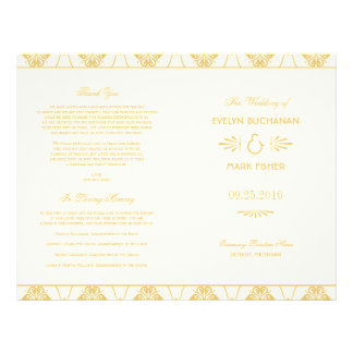 Wedding Programs | Art Deco Style 21.5 Cm X 28 Cm Flyer