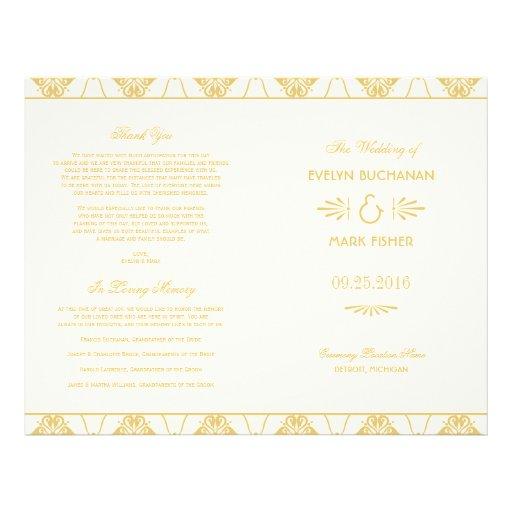 Wedding Programs | Art Deco Style Flyer Design