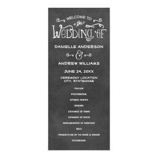 Wedding Programs | Chalkboard Charm 10 Cm X 24 Cm Invitation Card