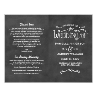 Wedding Programs | Chalkboard Charm Flyer