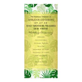 Wedding Programs   Exotic Green Tropical Leaves Rack Card