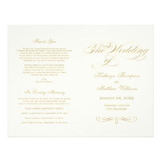 Wedding Programs | Gold Calligraphy Design Flyer