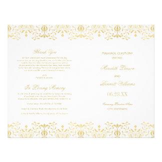 Wedding Programs | Gold Vintage Glamour Flyer