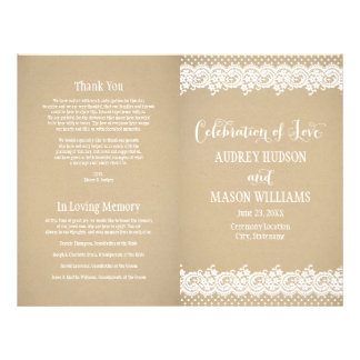 Wedding Programs | Lace and Kraft Flyer
