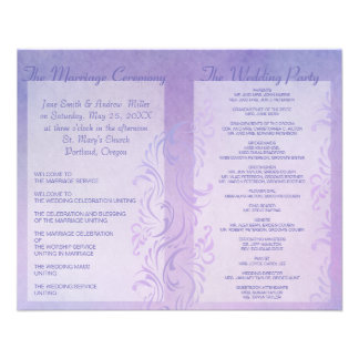 Wedding programs - Plum 11.5 Cm X 14 Cm Flyer